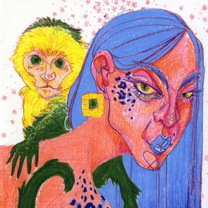 Jaguar and Capuchin