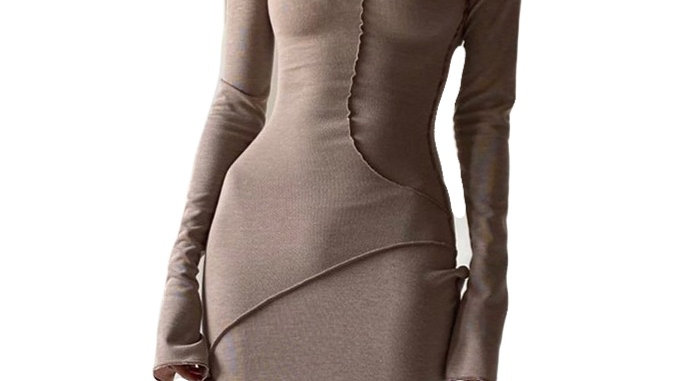 Long Sleeve Hooded Maxi Winter Dress