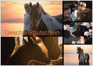 Geschenkgutschein Pferdeshooting Hundeshooting