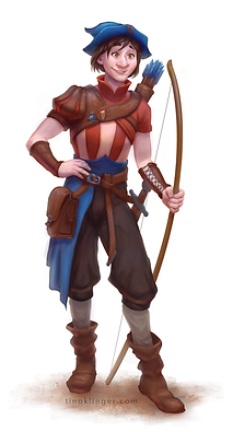 archer fantasy character commission illustration