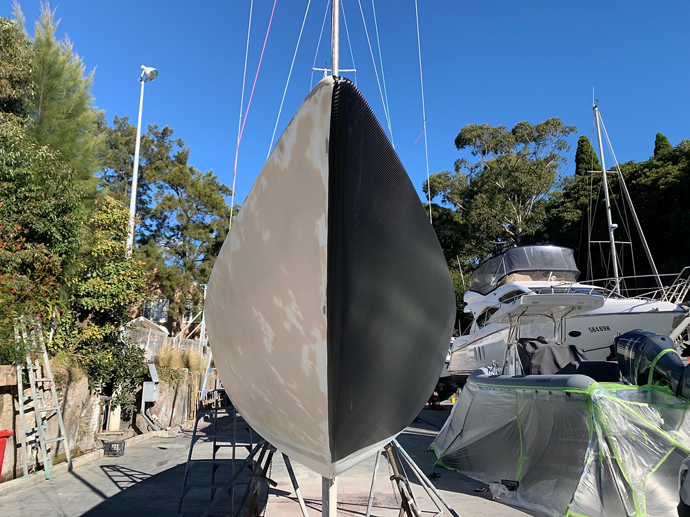 The Etchells yatch before and after vinyl wrap