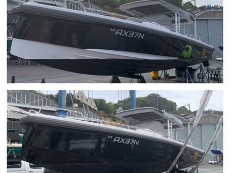 Experts in Vinyl Wrap of Axopar Boats
