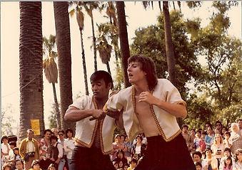 Chris Kent assisting Dan Inosanto during JKD/Filipino Kali demonstration