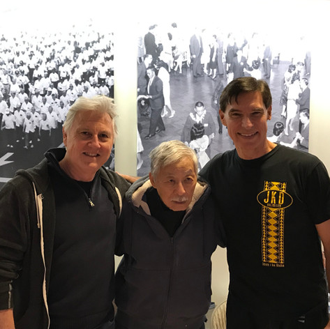 Burton Richardson and I with Taky Kimura