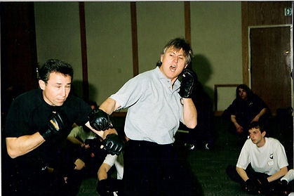 Chris Kent teaching Jeet Kune Do and Jun Fan Jeet Kune Do Nucleus seminar