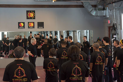 Chris Kent teaching Jeet KUne Do seminar at New York Martial Arts Academy