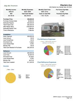 Rental ROI $84k Refinance Page 1