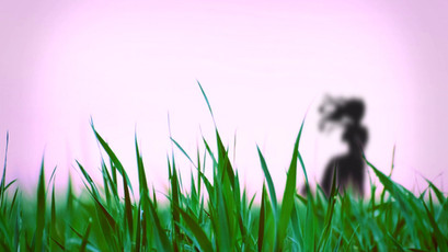 girl standing wind.wmv