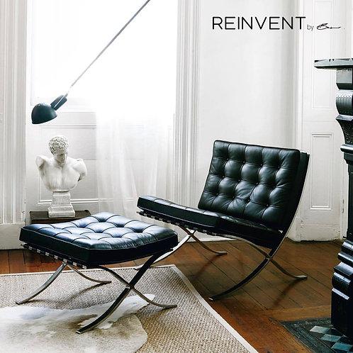Lisbon Pavilion Chair and Ottoman Set