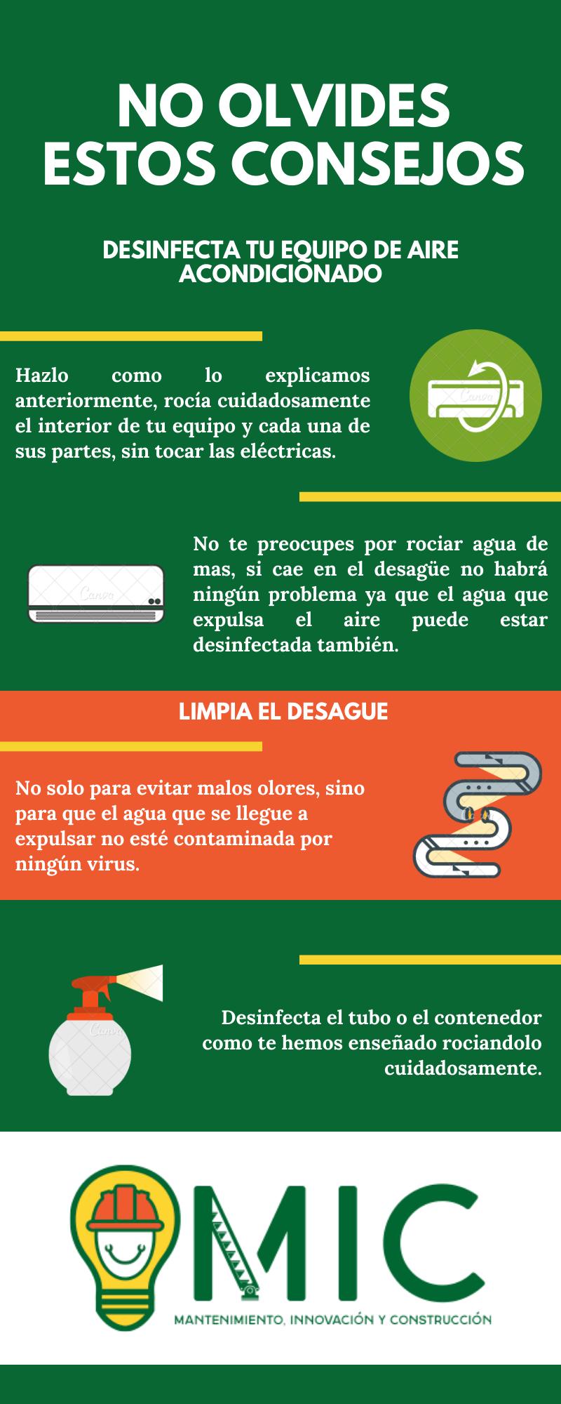 Consejos para mantenimiento de aire acondicionado MIC Multiservicios