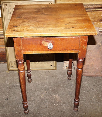 19th C Primitive One Drawer Side Table