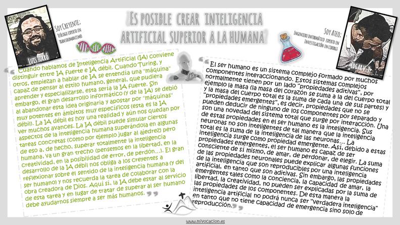 ¿Es posible crear inteligencia artificial superior a la humana?