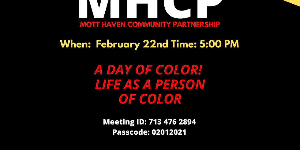 A Day of Color: Life as Person of Color