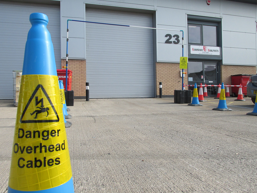 traffic management Cones used to highlight electrical warning hazards