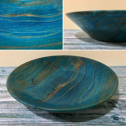 Shallow Spalted Ble Beech Bowl