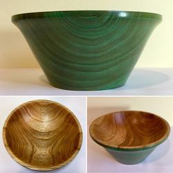 Limed Green Elm Bowl
