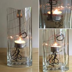 Icelandic alfresco tea light holder
