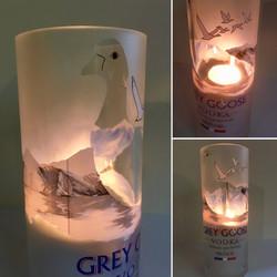 Grey Goose alfresco tea light holder