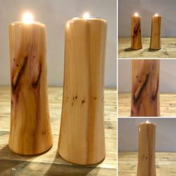 Pair of Yew Tea Light Holders