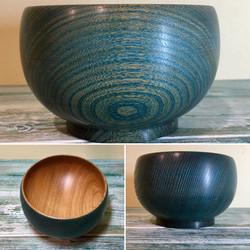 Limed Blue Elm Bowl