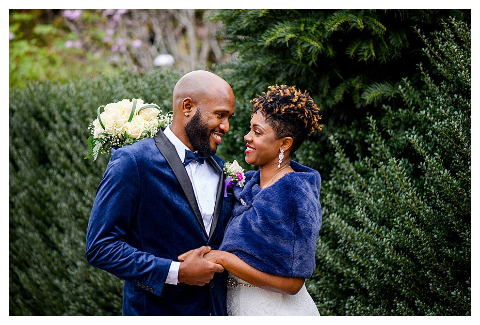Smiles of joy wedding portrait