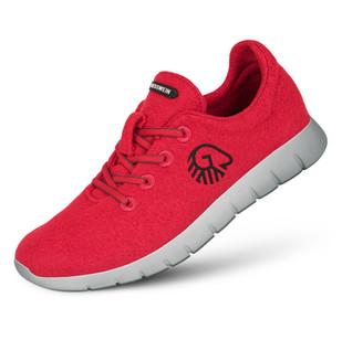 Farbe Flammenrot - Damen Merino Runners
