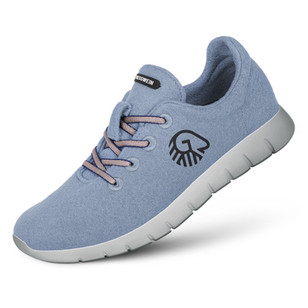 Farbe Himmelblau - Damen Merino Runners