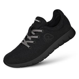 Farbe Schwarz - Damen Merino Runners