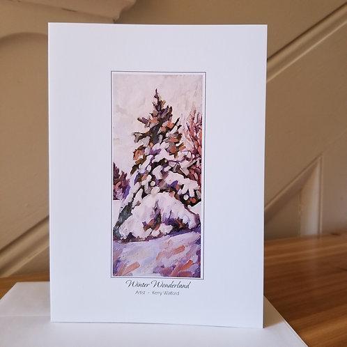 "7"" x 5"" Blank Greeting Card of 'Winter Wonderland'"