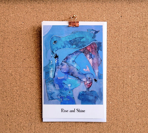 Blank Greeting Card of 'Rise and Shine'