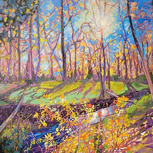 """Breath of Spring   48""""h x 48""""w   Kerry Walford"""