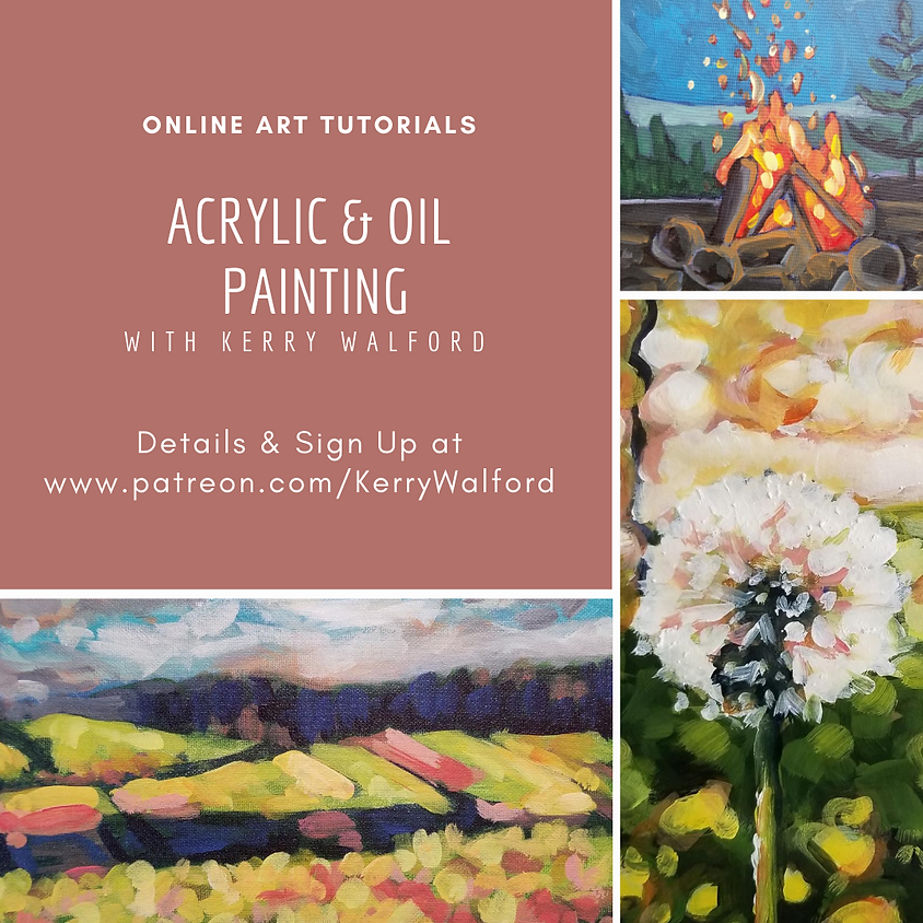 Online Art Tutorials with Kerry Walford