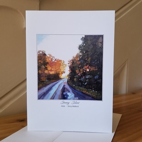 """7"""" x 5"""" Blank Greeting Card of 'Strong & Silent'"""