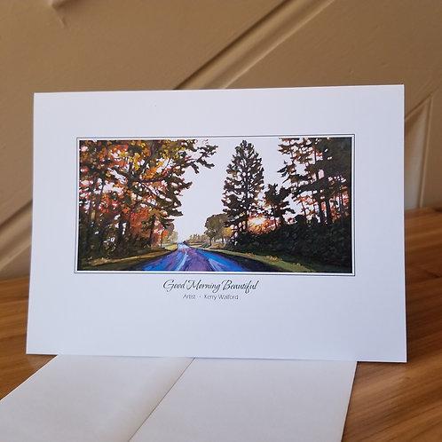 "5"" x 7"" Blank Greeting Card of 'Good Morning Beautiful'"