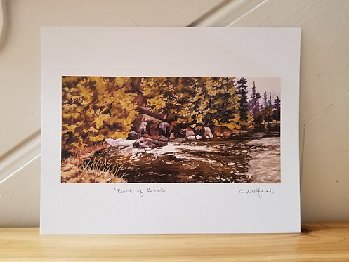"8"" x 10"" Print of 'Babbling Brook'"
