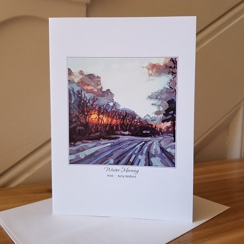"7""x5"" Blank Greeting Card of 'Winter Morning'"