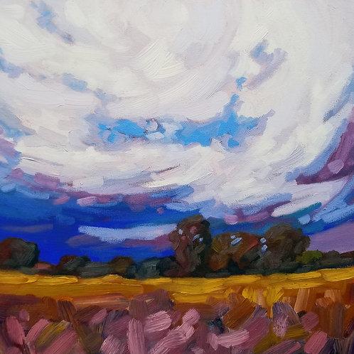 "Stormy Clouds | 12""h x 12""w | Kerry Walford"