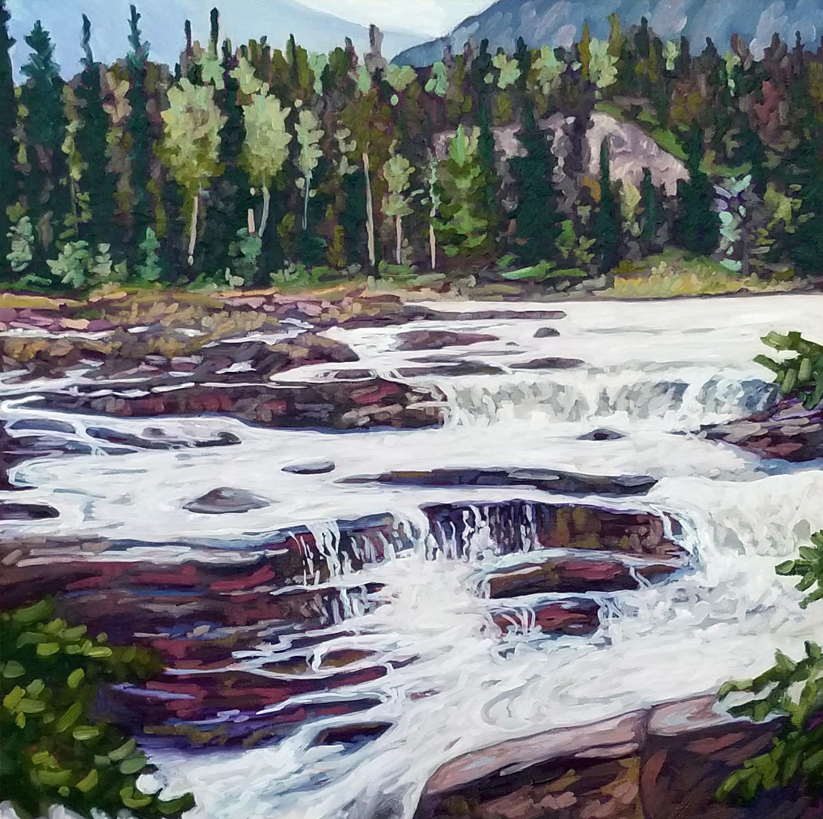 Athabasca Falls - Jasper Alberta