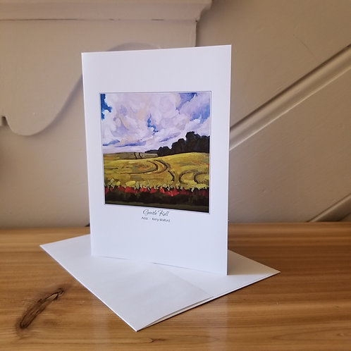 """7""""x5"""" Blank Greeting Card of 'Gentle Roll'"""