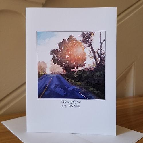"7"" x 5"" Blank Greeting Card of 'Morning Glow'"