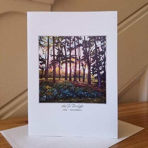 """7""""x5"""" Blank Greeting Card of 'Let In The Light'"""