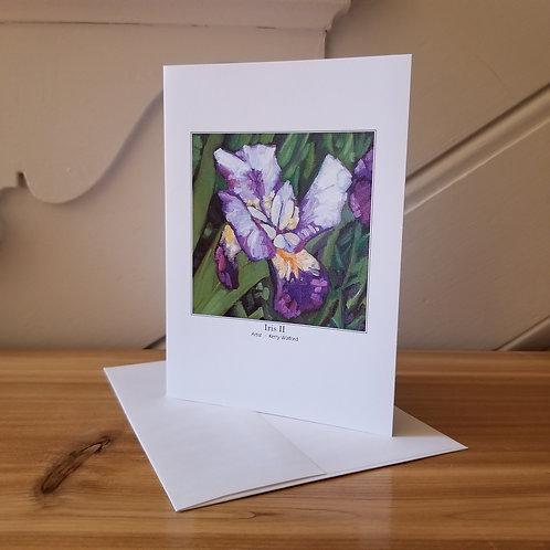"""7""""x5"""" Blank Greeting Card of 'Iris II'"""