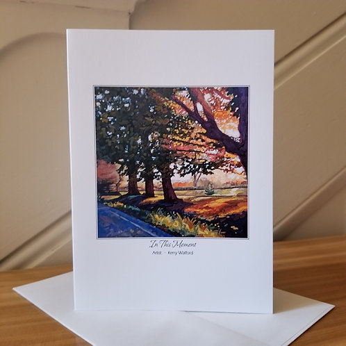 "7"" x 5"" Blank Greeting Card of 'In The Moment'"