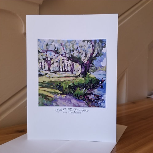 "7"" x 5"" Blank Greeting Card of 'Light On The River Flats'"