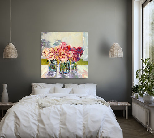 "'Flowers for Mom' Giclée Print | 36""h x 36""w | Kerry Walford"