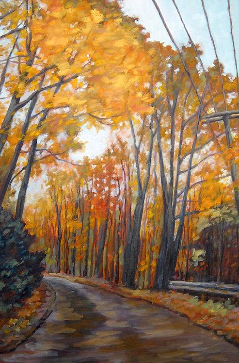 "Leaves Turning at Rattlesnake Point, Burlington, ON | 36""x24"" | Kerry Walfor"