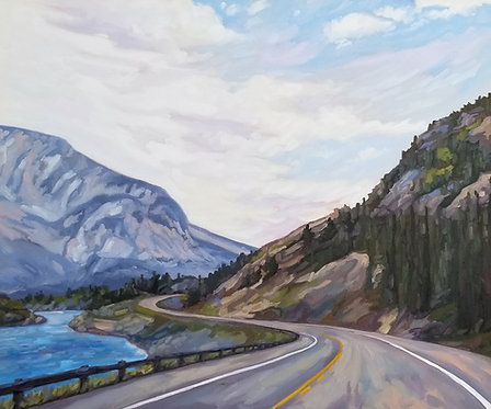 "Around The Bend | 30""h x 36""w 