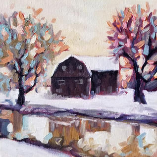 Winter Farm Reflections