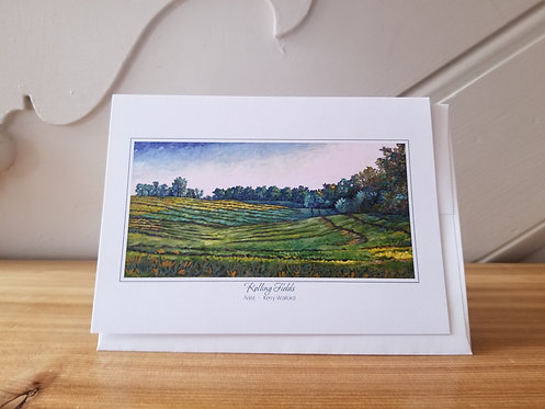"5"" x 7"" Blank Greeting Card of 'Rolling Fields'"