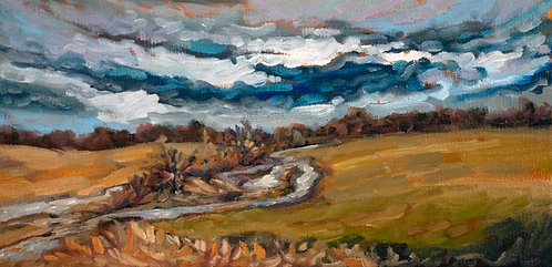 "Stream in the Field | 6""x12"" 